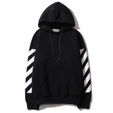 Fashion Youth Casual Loose Strip Long Sleeve Hoodie