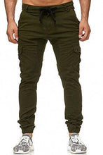 Load image into Gallery viewer, Men's Solid Color Casual Slim Pants