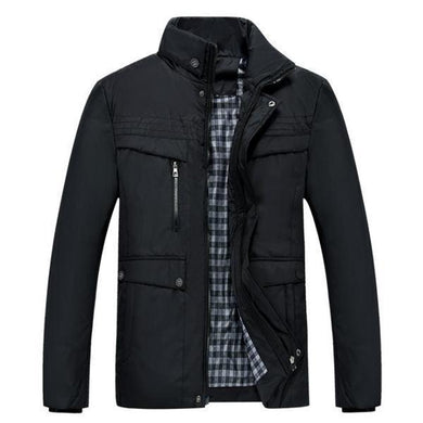 Casual Fashion Thermal Plain Zipper Long Sleeve Men Outerwear