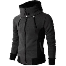 Load image into Gallery viewer, Casual Youth Fashion Slim Color Block Long Sleeve High Collar Men Outerwear