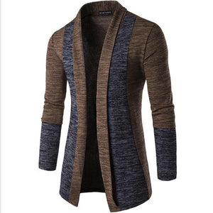 Stylish Casual Soft Thermal Color Block Long Sleeve Men Outerwear