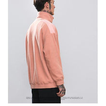 Load image into Gallery viewer, Fashion High Collar Plain Zipper Letter Embroidery Hoodie