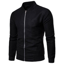 Load image into Gallery viewer, Fashion Lapel Collar Plain Slim Zipper Jacket
