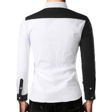 Load image into Gallery viewer, Casual Lapel Plain Slim Color Blocking Shirt