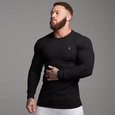 Men's Solid Color Sports Bottoming Shirt