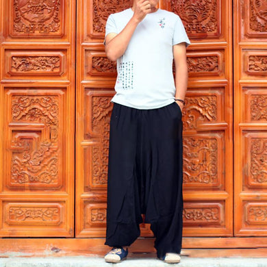 Nepal Big Crotch Pants Wide Leg   Pants Casual Pants