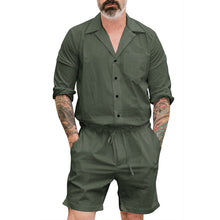 Load image into Gallery viewer, Fashion Plain Mens Casual Jumpsuit