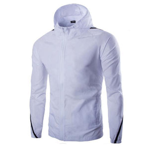 Solid Color Windproof Sunscreen Hooded Jacket