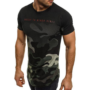 Fashion Camouflage Slim Short-Sleeved T-Shirt
