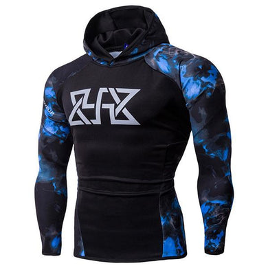 Men's Sports Fitness Starry Raglan Sleeve Hoodie