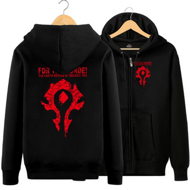 World Of Warcraft Theme Zipper Hooded Jacket