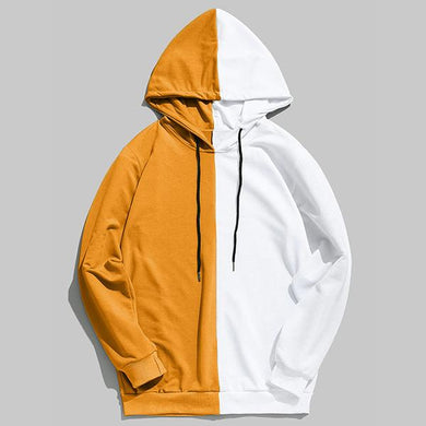 Fashion Hip Hop Colorblock Hoodie