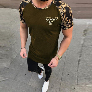 New In Fashion Patchwork Casual Men's T-Shirts