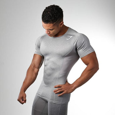 Sports Fitness Colorblock Slim Fast Drying T-Shirt
