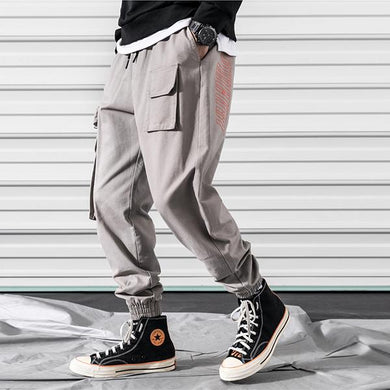 Men's Fashion Multi-Pocket Embroidered Sweatpants