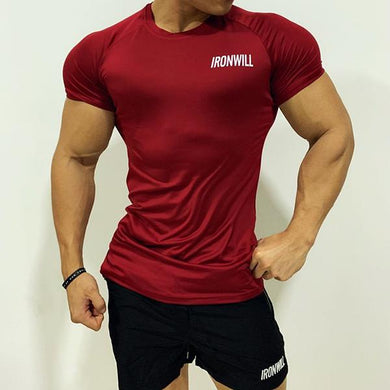 Sporty Professional Fitness Quick-Drying Tight T-Shirt