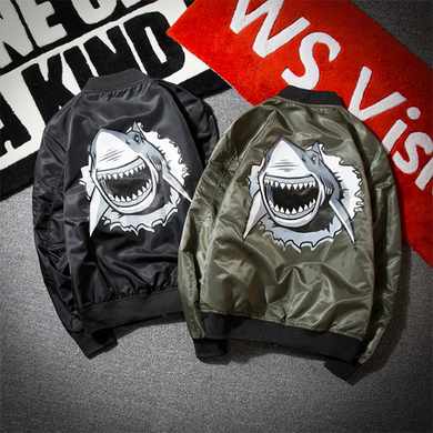 Men's Fashion Shark Print MA-1 Jacket