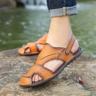 Men's Retro   Beach Dual-Use Casual Sandals