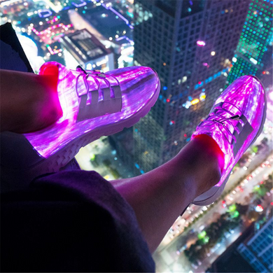 Men's Led Light   Charging Color  Sport Sneakers