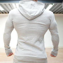 Load image into Gallery viewer, Fitness Solid Color Hooded Zipper Jacket