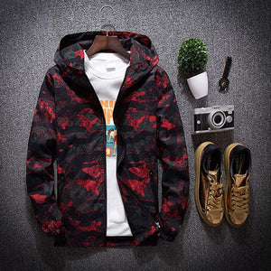 Fashion Men's Camouflage Windproof Hooded Jacket