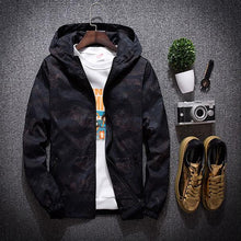 Load image into Gallery viewer, Fashion Men's Camouflage Windproof Hooded Jacket