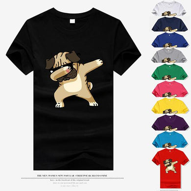 Men's Fashion Hip Hop Dog Print Short Sleeve T-Shirt