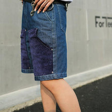 Load image into Gallery viewer, Men's Summer Trend Stitching Wash Denim Shorts