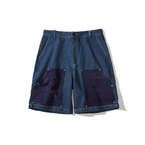 Men's Summer Trend Stitching Wash Denim Shorts