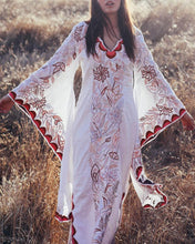 Load image into Gallery viewer, V-Neck Flared Sleeve Bohemian Print Dress