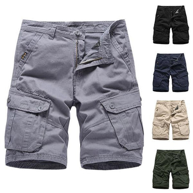 Men's Fashion Solid Color Pocket Shorts