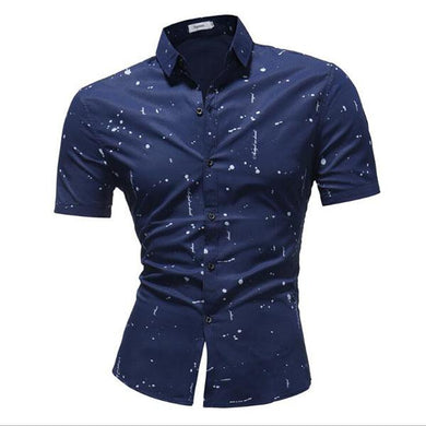 Men's Fashion Printed Short-Sleeved Shirt