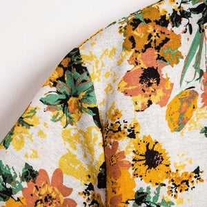 Casual Floral Pattern Splicing Short Sleeve Shirt