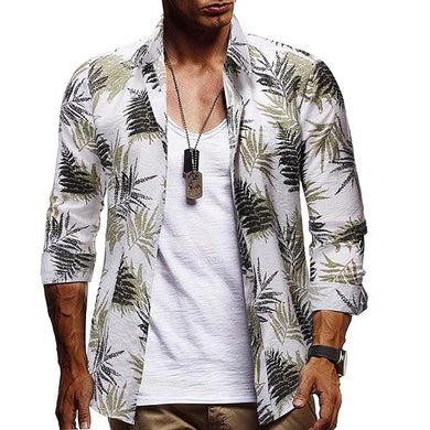 Men's Plus Size Fashion Printed Slim Fit Shirt