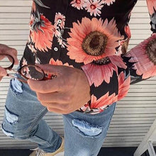 Load image into Gallery viewer, Men's Casual Lapel Long-Sleeved Flower Printed Shirt