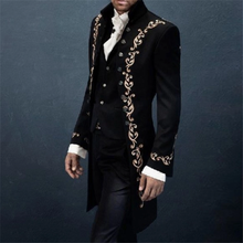 Load image into Gallery viewer, Autumn And Winter Suede Embroidery Long Coat