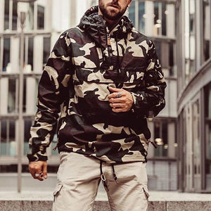 Fashion Camouflage Hooded Zipper Long Sleeve Sweaters