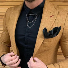 Load image into Gallery viewer, Men's Pure Color Lapel Long-Sleeved Outerwear