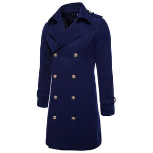 European And American Large Lapel Double-Breasted Coat Jacket