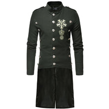 Load image into Gallery viewer, Men's Casual Stand Collar Decorative Button Slim Wool Coat