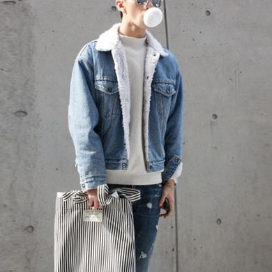 Men's Lambswool Denim Jacket