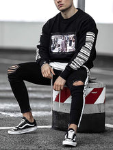 Load image into Gallery viewer, Men'S Casual Round Collar Printed Sweatshirt