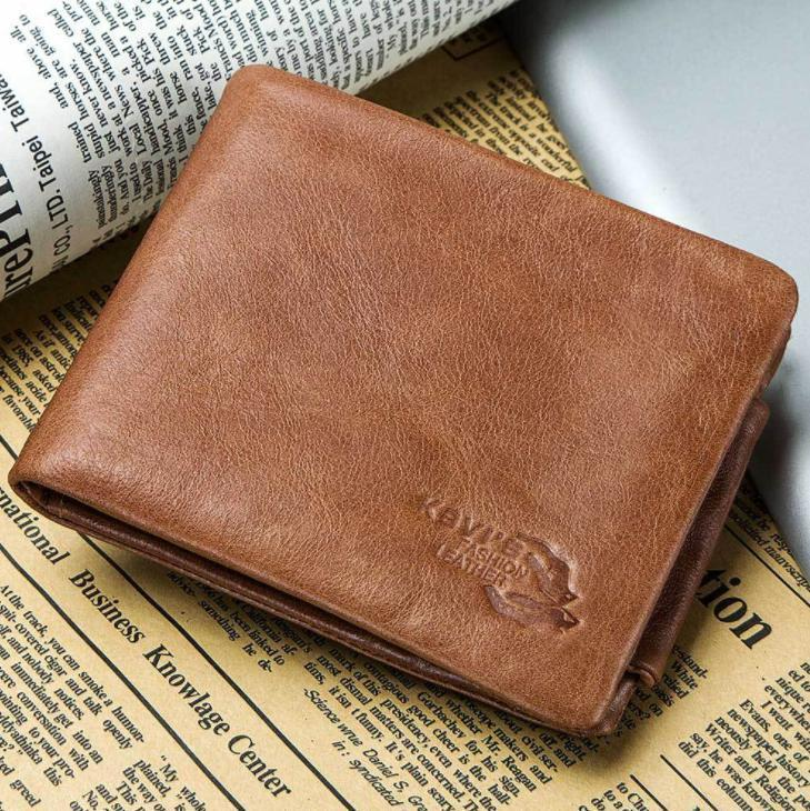 Tri-Fold Men's Vintage Leather Wallet