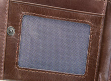 Load image into Gallery viewer, Tri-Fold Men's Vintage Leather Wallet