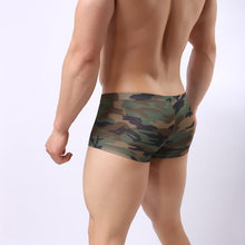 Load image into Gallery viewer, Sexy Camouflage U Sac Bag Low Waist Breathable Men's Boxers