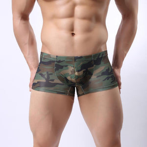 Sexy Camouflage U Sac Bag Low Waist Breathable Men's Boxers
