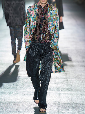Men's Fashion Print Coat