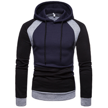 Load image into Gallery viewer, Men's Fashion Trend Stitching Slim Hoodie