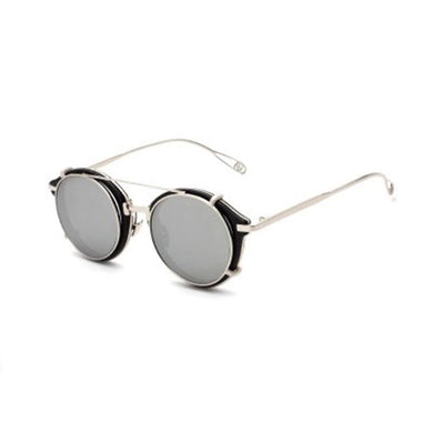 Round punk retro sunglasses