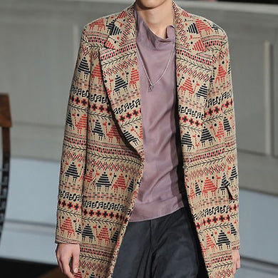 Fashion Men's Printed Coat